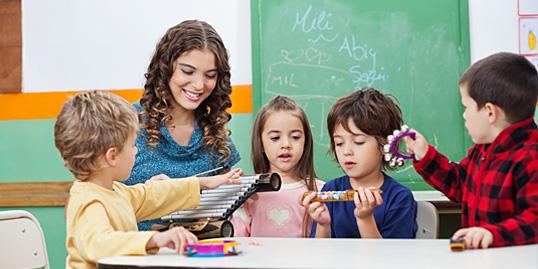 Immagine di bambini a scuola